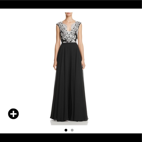 Aidan Mattox Dresses   Lace Embroidered Gown   Poshmark